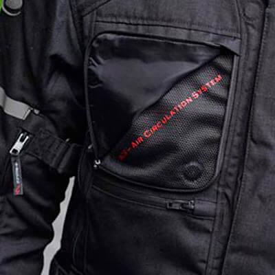 Abertura ventilación Chaqueta de moto Held Carese II
