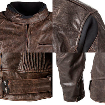 Detalles chaqueta de moto Helite Roadster Black